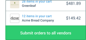 Ordering from your restaurant's vendors has never been so easy.